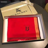 Burberry fashion hot selling male and female school contrast color plaid embroidery tassel scarf