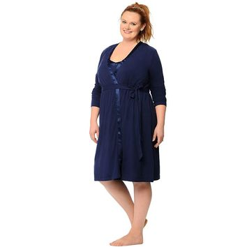 Oh Baby by Motherhood Nursing Gown & Robe Set - Plus Size Maternity, Size: