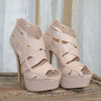 Good Reputation Nude Cut Out Platform Heels