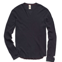 Long Sleeve Thermal Crew in Navy