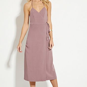 Tie-Front Halter Dress
