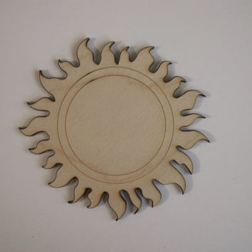 Sun Wood Shapes, Laser Cut Wood, Ready to Paint Woodcraft, Celestial Wall Art, Sun Theme Decorations, Ornaments, Sorority Crafts, 6 PIECES