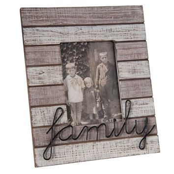 Distressed Vintage Family Picture Frame - 5x7