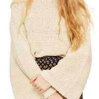 Topshop Natural Yarn Bell Sleeve Sweater | Nordstrom