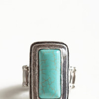 Turquoise Tales Ring - $14.00: ThreadSence, Women's Indie & Bohemian Clothing, Dresses, & Accessories