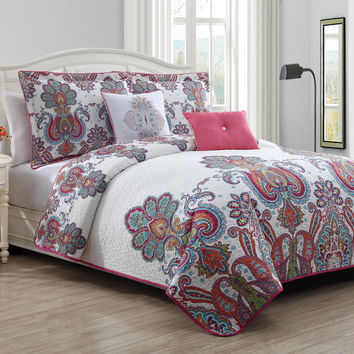 Geneva Home Fashion Melisenta 5 Piece Quilt Set in Multi
