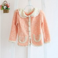 Vintage Inspired Girls Clothes little girl's Vintage Inspired Pink cardigan | Vindie Baby