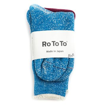 Double Face Socks, Blue
