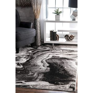 9945 Gray Abstract Contemporary Area Rugs