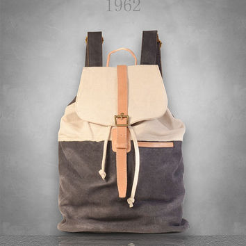 New Mens womens Canvas Backpack Rucksack Bag Large size laptop travel casual School cloth camping eco-friendly tablet