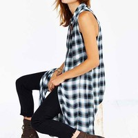 BDG Grunge Sleeveless Maxi Tunic- Black & White