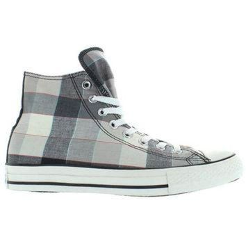 DCKL9 Converse All-Star Chuck Taylor Buffalo Hi - Black/Grey Plaid Canvas High Top Sneaker