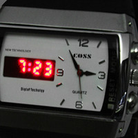 White Multiple Time Zone Round Shape Metal Silica Wrist Watch