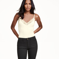 H&M Lace-trimmed Camisole Top $17.99