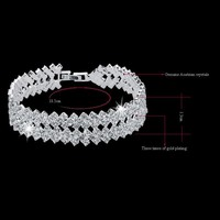 Bridal Wedding Accessories Crystal Rhinestone Bracelets