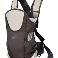 Ultimate Baby Carrier by Baby & Mom - Cushioning, Ergonomic, Stylish & Safe - (Brown)