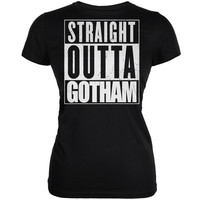 Straight Outta Gotham Black Juniors Soft T-Shirt