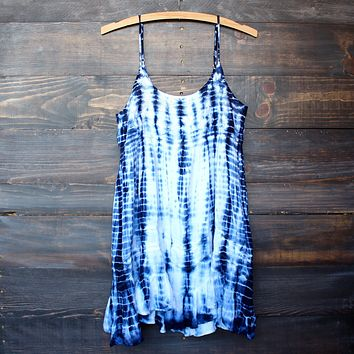 Tie Dye For Mini Dress in Bohemian Blue