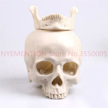 Skull Skulls Halloween Fall 1:1 Resin  Sculpture Education And Painting dedicated Medical Model Realistic Lifesize Home Decoration Accessories 20pcs Calavera
