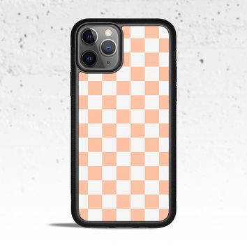 Checkerboard Apricot Phone Case Cover for Apple iPhone Samsung Galaxy S & Note