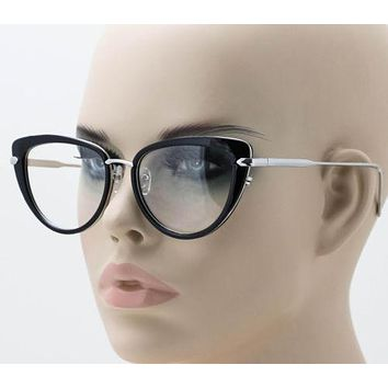b771a20c4e0 Elite Cat Eye Fashion Design Clear Lens Metal Frame Women Vintag