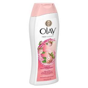 Olay Fresh Outlast Cooling White Strawberry & Mint Body Wash - 23.6 oz : Target