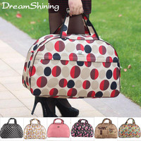 DreamShining Waterproof Travel Bag Women And Men Fashion Handbag L Code High Capacity Admission Package 18 Colors For You Choose