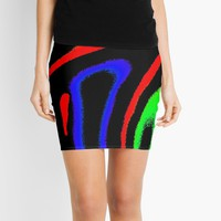 'Minimal Landscape Modern Art Coloristic Composition' Mini Skirt by SpieklyArt
