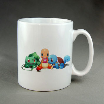 pokemon the starters,coffee mug,tea mug,ceramic mug