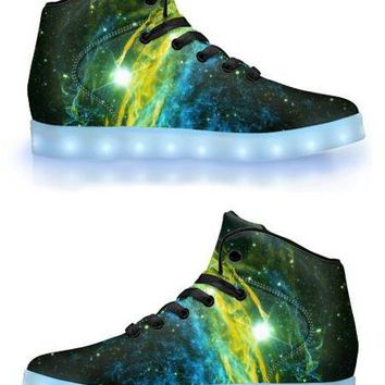 Golden Way - APP Controlled High Top LED Shoes
