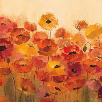 Summer Poppies Stretched Canvas Print by Silvia Vassileva at Art.com