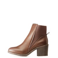 Bamboo Faux Leather Flat Chelsea Booties | Charlotte Russe