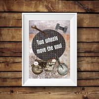 Motorcycle Print - Vintage motorcycle Art Poster - Motorcycle INSTANT DOWNLOAD ART - Vintage Home Decor - Motorcycle Art Print - Quotes Art