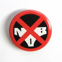 "Kill la Kill Nudist Beach Symbol Anime 1.25"" or 2.25"" Pinback Button"