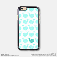 Light mint whale Free Shipping iPhone 6 6Plus case iPhone 5s case iPhone 5C case 400-402