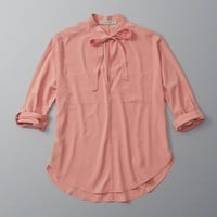 ANF Tie-Front Top | ANF Womens | Abercrombie.com