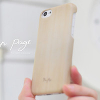 apple iphone case : wood case (not real wood) from nappage
