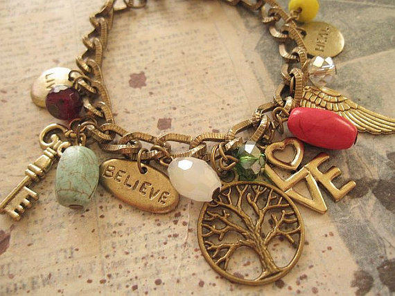 Inspire me a charm bracelet by from trinketsforkeeps on etsy for Who sells lizzy james jewelry
