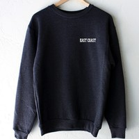East Coast Oversized Sweatshirt - Dark Heather Grey