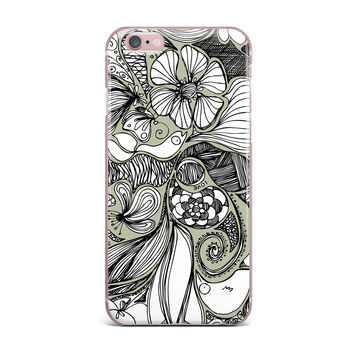"Anchobee ""Doodle Dos"" Gray Green iPhone Case"