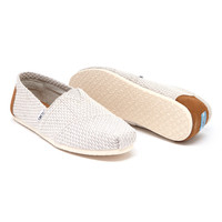 TOMS Light Gray Weave Classics | zulily