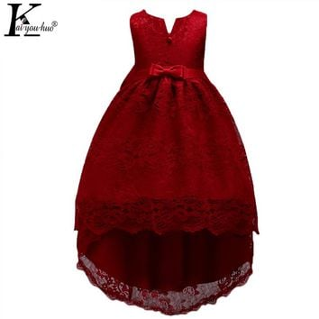 KEAIYOUHUO New Kids Dresses For Girls Clothes Chiffon Wedding Dress For 4 5 6 7 8 9 10 11 12 13 14 Years Children Princess Dress