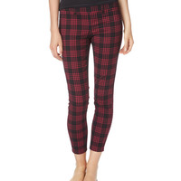 Aeropostale Womens City Crop Plaid Pant,