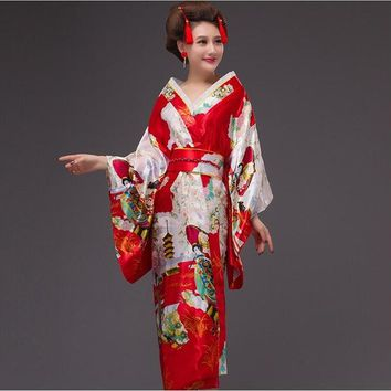 8 color New Fashion Japanese traditional kimono Sexy Kimono Vintage Party Dress Japanese Dance Costume