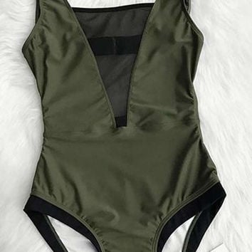 Cupshe Glad You Are Here One-piece Swimsuit