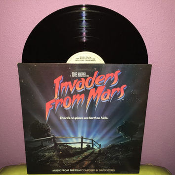 Rare Vinyl Record Invaders From Mars Original Soundtrack LP 1986 Tobe Hooper SciFi Horror