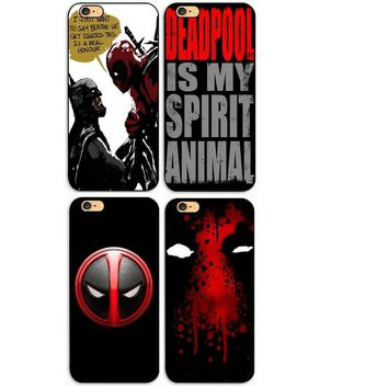 Hot Selling  Super Cool Marvel Hero Deadpool Head  Hard Plastic phone Case Cover For iphone 4s 5 5s se 5c 6 6s plus 7 7plus 8p
