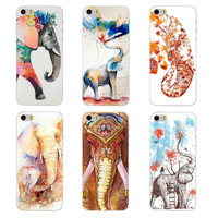 Pretty Elephants phone Case for Apple iPhone 6 6s 5 5s SE 5c 4 4s 6 plus cover hard plastic coque