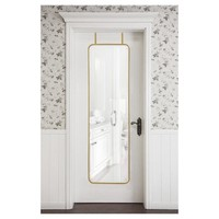 Over-the-Door Mirror Metal Brass - Threshold™