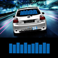 New Sound Music Beat Activated Car Stickers Equalizer Glow Blue LED Light Audio Voice Rhythm Lamp